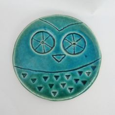 Hey, I found this really awesome Etsy listing at https://www.etsy.com/listing/199379656/owl-drink-coaster-green-owl-pottery