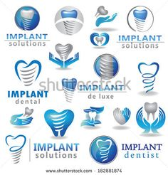 How about NOT reminding the patient that they'll have a big screw driven into their jawbone? Dental Business Cards, Dentist Art, Office Logo, Lab Logo, Dental Logo, Dental Facts, Logos, Implant Dentist, Dental Office Design