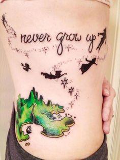 Disney Tattoos- Never Grow Up, Peter Pan