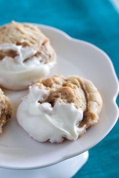 Walnut White Chocolate Dipped Cookies