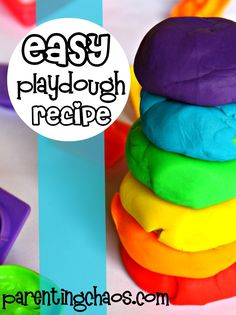 Playdough (aka Play-doh) is easy to make at home, and fun for kids of all ages. We adore this easy playdough recipe - fun for play and soft to touch!