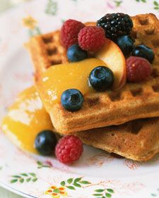 Using nonfat buttermilk and egg whites will eliminate a substantial amount of the fat usually found in this classic breakfast fare.