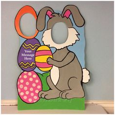 This Easter Bunny photo prop is perfect for any Easter or Spring inspired event, birthday, or holiday Party.  This cutout is Hand Painted on 40x30 (3.5 ft tall) Foam Board (a Stand or 2 stake sticks are included *Upon Request*)  ORDERING INSTRUCTIONS: Please message me the following: - event due date - any personalization - special requests/color schemes - and just to say Hi!  Please provide 3-4 weeks notice prior to due date Especially during the holiday seasons. These are completely ha...