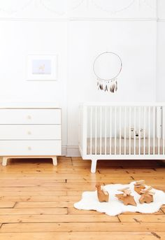 Sparrow Cot Bed in White by OEUF NYC