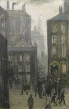 The Lodging House by L.S. Lowry 1921