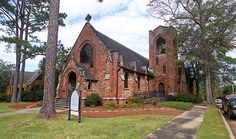 Historic St. Mark's Episcopal Church in Troy, Alabama