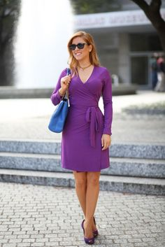 Hilary Kennedy Blog: // Ellie Kai Wrap Dress + Uno Magnetic Initial Necklace