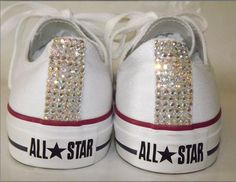 Get these custom made Rhinestone Chuck Taylors for your Wedding, Birthday or any special occasion.