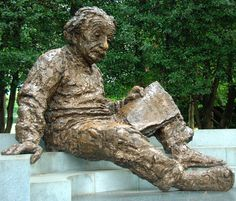 Einstein Memorial - Washington, DC Apparently there's a certain spot you can stand to talk to the statue and all of your words are echoed back to you :)