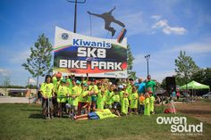 Kiwanis Sk8 & Bike Park in Owen Sound Bike Parking, Amp