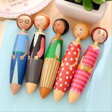 1 pçs/lote família Doce projeto Da Boneca Menina caneta esferográfica Adorável ball pen Papelaria zakka material de escritório material escolar(China (Mainland))