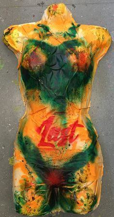 Body cast with the seven deadly sins spray painted on. Created by Admiral Salt