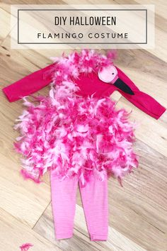 Halloween - DIY Flamingo Costume #CatchMoreData #Ghostbusters #ad