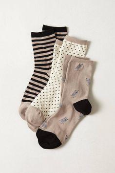 Tri-Pattern Sock Set - anthropologie.com