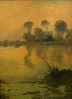 "Charles Warren Eaton ""Early Morning Haze"" 12x9 Canvas on Board"