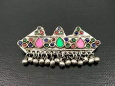 Hair Pin Hair Clip Afghan Kuchi Tribal Hair Jewelry Vintage Hair Accessory Banjara Indian Gypsy Hair Clip Unique Ethnic Traditional Hair Pin by RareFindingsUS on Etsy