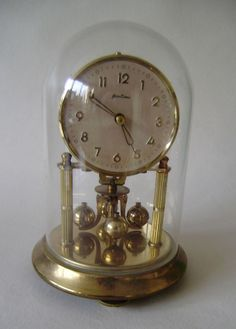 Vintage Ben Time Anniversary 400 Day Mantel Clock Mechanical Movement Quality