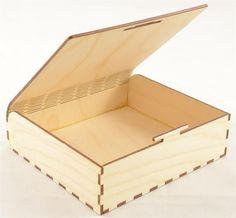 """Snap Fit Wood Box 6"""" x 5.5"""" x 2"""""""
