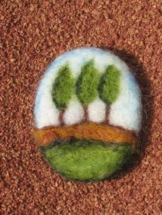 Needle Felted Brooch - Mini Wool
