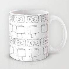 Robots Mug by The Ghost and Robot - $15.00