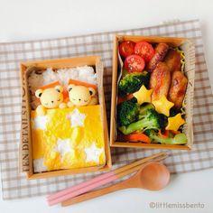 Little Miss Bento  シャリーのかわいいキャラベン: Sleeping Bear Bento 寝てくまさんのキャラ弁