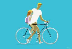 """Riding back from school by PascalCampion.deviantart.com on @deviantART """"Simple, but it happened today and I wanted to keep that memory."""""""