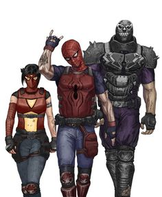 "TEAM SPIDER! by Joma Cueto ""Spiders for Hire"" Artist deviantart / tumblr"
