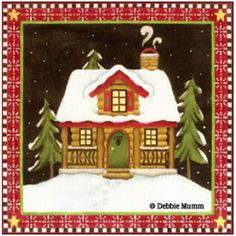 Bear Lodge Debbie Mumm design, Melissa Shirley needlepoint canvas