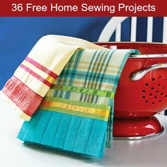 36 Free Home Sewing Projects- these are easy and useful projects with tutorials.