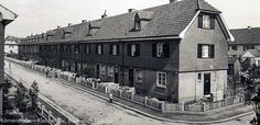 Die Gartenstadt in Freiburg Haslach. Körnerstraße-Kleisstraße, Blick nach Norden. Foto um 1920 https://www.facebook.com/HistorischesFreiburg/photos/np.1448952105733751.100002251567273/864181170339200/?type=3