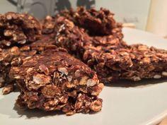 Barres Granola crues au Chocolat