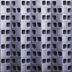 Even humble cinder blocks can be arranged into interesting (and structurally stable) patterns.