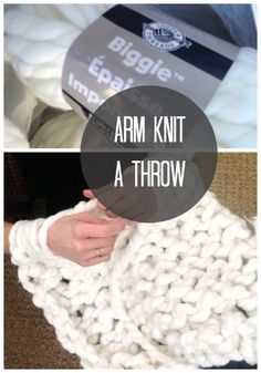 Chunky Arm Knit Throw DIY | Love of Home