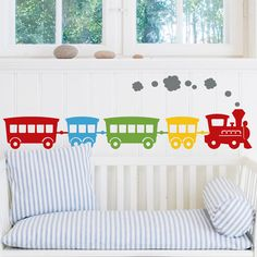 vinyl train decor     by etsy seller blankcanvasdesigns    http://www.etsy.com/listing/92032836/choochoo-boys-vinyl-train-wall-decals?ref=sr_gallery_10_search_query=train+_order=most_relevant_ship_to=US_view_type=gallery_page=2_search_type=all