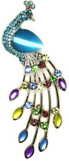 Peacock brooch 9.99