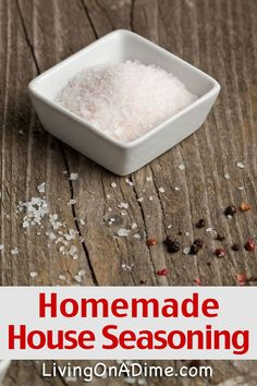 Homemade House Seasoning Recipe - Homemade Seasonings Mixes And Blends Try these homemade seasoning mix recipes, which are easy to make and can save you a lot of money. Check here for some easy recipes for seasoning mixes. House Seasoning Recipe, Poultry Seasoning, Seasoning Mixes, Homemade Spices, Homemade Seasonings, Homemade Butter, Recipe Mix, Spice Mixes, Spice Blends