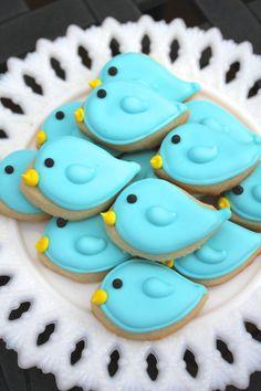 3 docena mini galletitas de aves por CraftedCookies en Etsy