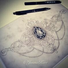 Love this jeweled tattoo idea