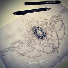 Love this jeweled tattoo idea