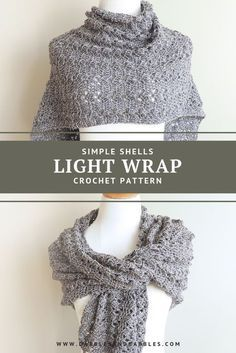 Simple Shells Light Wrap Crochet Pattern This Simple Shells Light Crochet Wrap Pattern is a lightweight crochet wrap that you can take on vacations or for mild weather. Today i have a new(ish) crochet pattern for you all, i designed this crochet rect Poncho Au Crochet, Crochet Prayer Shawls, Crochet Wrap Pattern, Crochet Shawls And Wraps, Crochet Motifs, Crochet Scarves, Crochet Stitches, Crochet Clothes, Free Crochet Shawl Patterns
