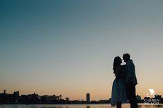 Lake Merritt sunset silhouette - Carmen Salazar