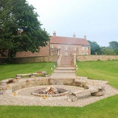 Farthing Hall - Fire Pit from Gorgeous Cottages