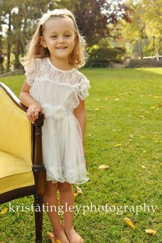 The Olivia Vintage Beige Flower Girl Lace Dress by kailynzoeandco, $71.95