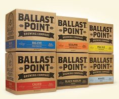 Ballast Point Brewing Co. cases designed by MiresBall.