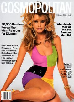 February 1992 cover with Claudia Schiffer photographed by the late Francesco Scavullo Fashion Magazine Cover, Fashion Cover, 90s Fashion, Magazine Covers, Fashion Clothes, Claudia Schiffer, Top Models, Natalia Vodianova, Cindy Crawford