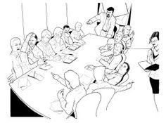 Boardroom scene.