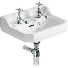 Order online at Screwfix.com. Traditional Edwardian style wall-hung basin suitable for cloakroom or bathroom. Matching high/low level WC available. FREE next day delivery available, free collection in 5 minutes.