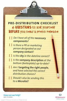 What Do You Need to Ask Before You Send a Press Release?