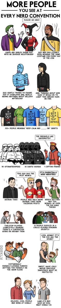 More People You See At Every Nerd Convention [Comic]
