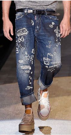 D Squared - I like the idea of doodling on denim with bleach pen:)